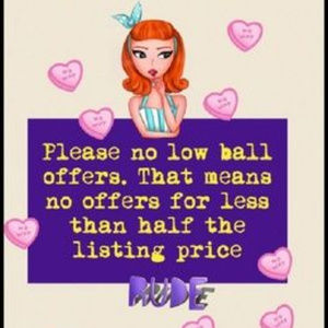 No low ball offers please!